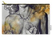 Colony Collapse Disorder - Gold - Nude Warrior Woman With Autumn Leaves Carry-all Pouch