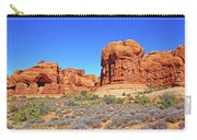 Colorado Arches Park Landscape Scrub Red Rocks Blue Sky 3335 Carry-all Pouch
