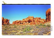 Colorado Arches Spires Red Rocks Scrub Blue Sky 3336 Carry-all Pouch