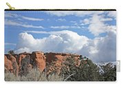 Colorado National Monument Colorado Blue Sky Red Rocks Clouds Trees Carry-all Pouch