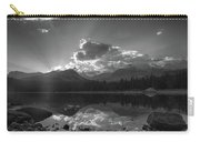 Colorado Mountain Lake In Black And White Carry-all Pouch