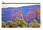 Colorado National Monument Colorado Blue Sky Red Rocks Clouds Trees 2 10212018 2871.jpg Carry-all Pouch