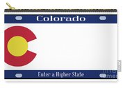 Colorado State License Plate Carry-all Pouch
