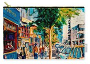 Colorful Cafe Painting Irish Pubs Bistros Bars Diners Delis Downtown C Spandau Montreal Eats         Carry-all Pouch