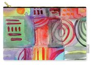 Colorful Patchwork 1- Art By Linda Woods Carry-all Pouch