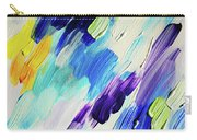 Colorful Rain Fragment 1. Abstract Painting Carry-all Pouch