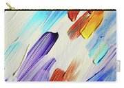 Colorful Rain Fragment 3. Abstract Painting Carry-all Pouch