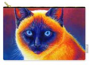 Colorful Siamese Cat Carry-all Pouch