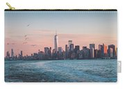 Colorful Sunrise Over The New York Skyline And The Statue Of Lib Carry-all Pouch
