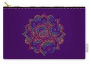 Colourful Rainbow Mandala Lavender Carry-all Pouch