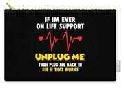 Computer Unplug Geek Pun Apparel Carry-all Pouch