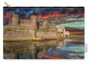 Conwy Castle Sunset Carry-all Pouch by Adrian Evans