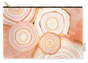 Coral Agate Abstract Carry-all Pouch
