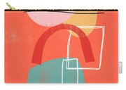 Coral Modern Abstract 2- Art By Linda Woods Carry-all Pouch