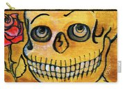 Corazon Sugarskull Holding Rose Carry-all Pouch