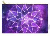 Cosmic Purple Geometric Seed Of Life Crystal Lotus Star Mandala Carry-all Pouch