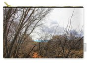 Cottonwood Arizona Jail Trail Trees Path Sky Clouds 5229 Carry-all Pouch