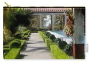 Painted Texture Courtyard Landscape Getty Villa California  Carry-all Pouch