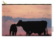 Cow And Calves After Sunset 01 Carry-all Pouch by Rob Graham