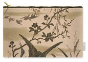 Cranes And Birds At Pond 1880 Carry-all Pouch