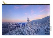 Crawford Notch Winter View. Carry-all Pouch by Jeff Sinon