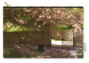 Crichton Church Entrance Gate And Tree In Pink Bloom Carry-all Pouch