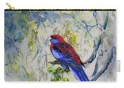 Crimson Rosella Carry-all Pouch by Ryn Shell