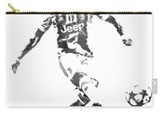 Cristiano Ronaldo Juventus Water Color Pixel Art 1 Carry-all Pouch