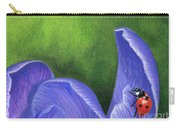 Crocus And Ladybug Detail Carry-all Pouch