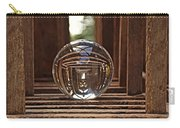 Crystal Ball In Wooden Lanterns Carry-all Pouch