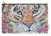 Cuddles The Tiger Small  Carry-all Pouch
