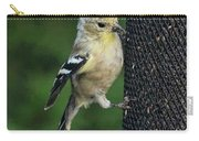 Cute Goldfinch At Feeder Carry-all Pouch
