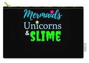 Cute Mermicorn Unicorn Mermaid Slime Birthday Carry-all Pouch