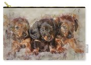 Dachshund Three Puppies Carry-all Pouch