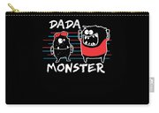 Dada Monster Cute Monster Cartoon For Kids And Dad Dark Carry-all Pouch
