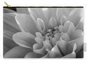 Dahlia In Monochrome Carry-all Pouch