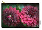 Dahlias In Crimson Red Carry-all Pouch