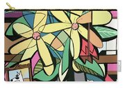 Daisy's And Tulips Carry-all Pouch by Anthony Falbo