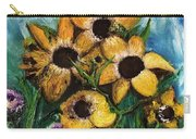 Dancing Flowers Carry-all Pouch by Laurie Lundquist