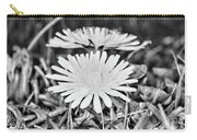 Dandelion Up Close And Personal Black And White Carry-all Pouch
