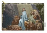 Daniel In The Den Of Lions  Engraving By Gustave Dore Carry-all Pouch