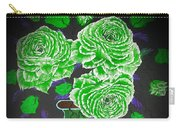 Dark And Delicious Roses  In Green Carry-all Pouch