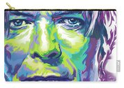 David Bowie Portrait In Aqua And Green Carry-all Pouch