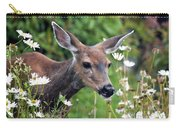 Deer In Daisies Carry-all Pouch