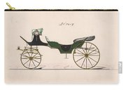 Design For Cabriolet Or Victoria, No. 3459  1875 Carry-all Pouch