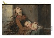 Destitute Dead Mother Holding Her Sleeping Child In Winter, 1850 Carry-all Pouch