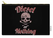 Diesel Or Nothing Truck 4x4 Power Fuel Skull Red Carry-all Pouch