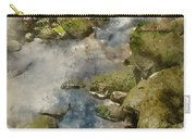 Digital Watercolor Painting Of Autumn Fall Forest Landscape Stre Carry-all Pouch
