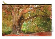 Digital Watercolor Painting Of Beautiful Autumn Fall Nature Fair Carry-all Pouch