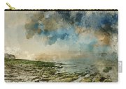 Digital Watercolor Painting Of Beautiful Landscape Panorama Suns Carry-all Pouch